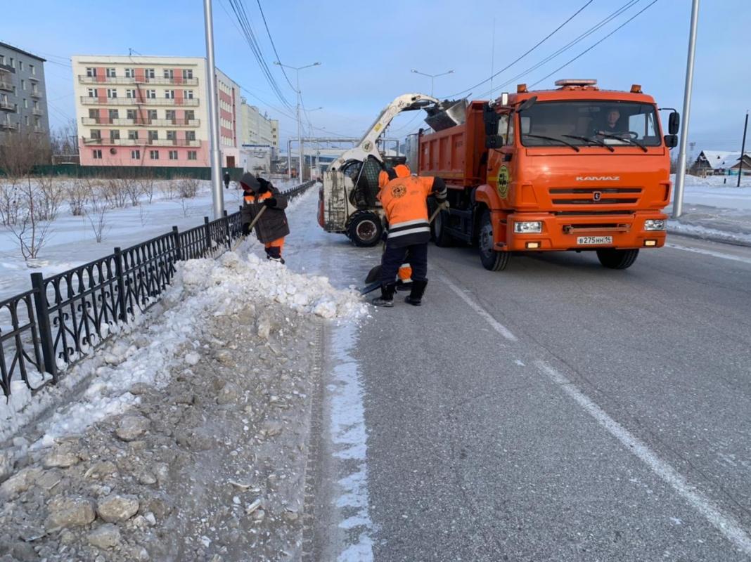 422 тысячи кубометров снега вывезено с улиц и площадей Якутска