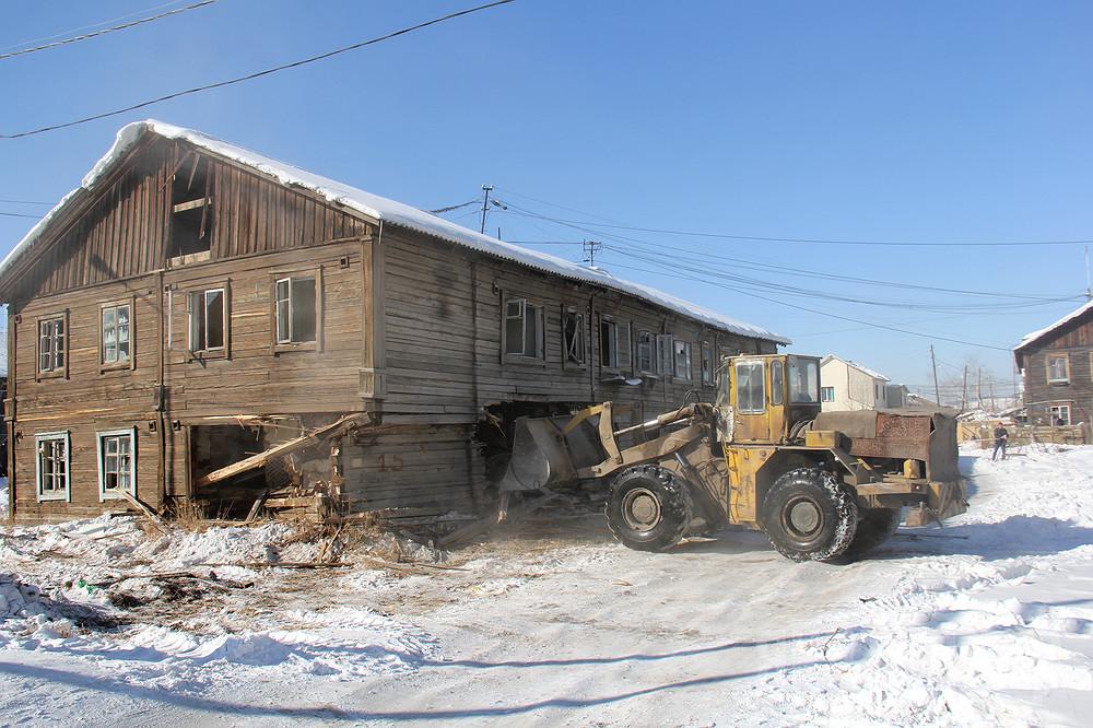 14 млн рублей предусмотрено на снос аварийных домов в Якутске