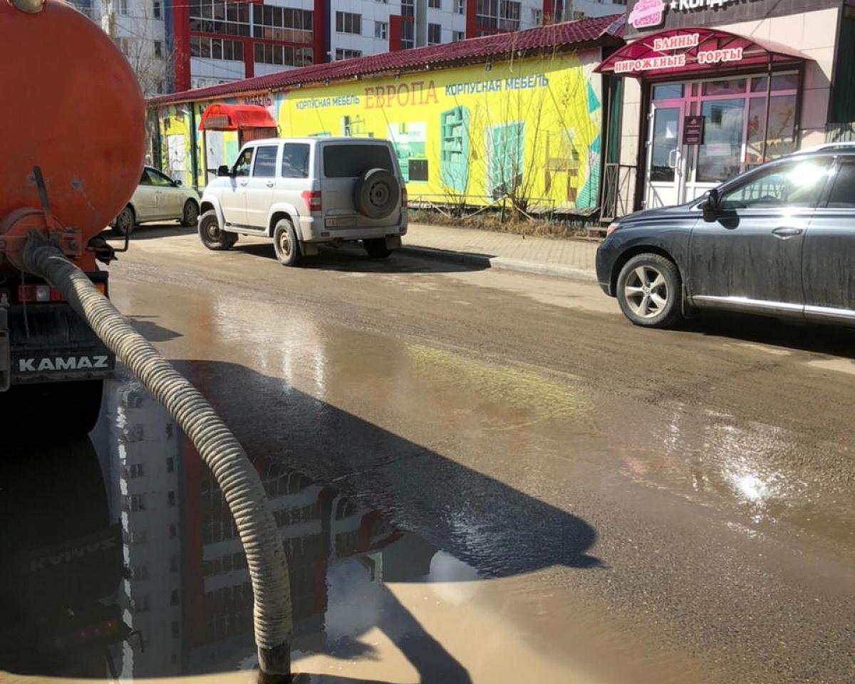 График откачки дождевых и талых вод на 18 мая