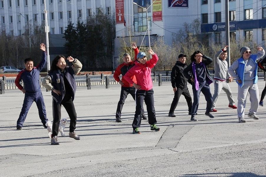 В Якутске стартуют утренние зарядки