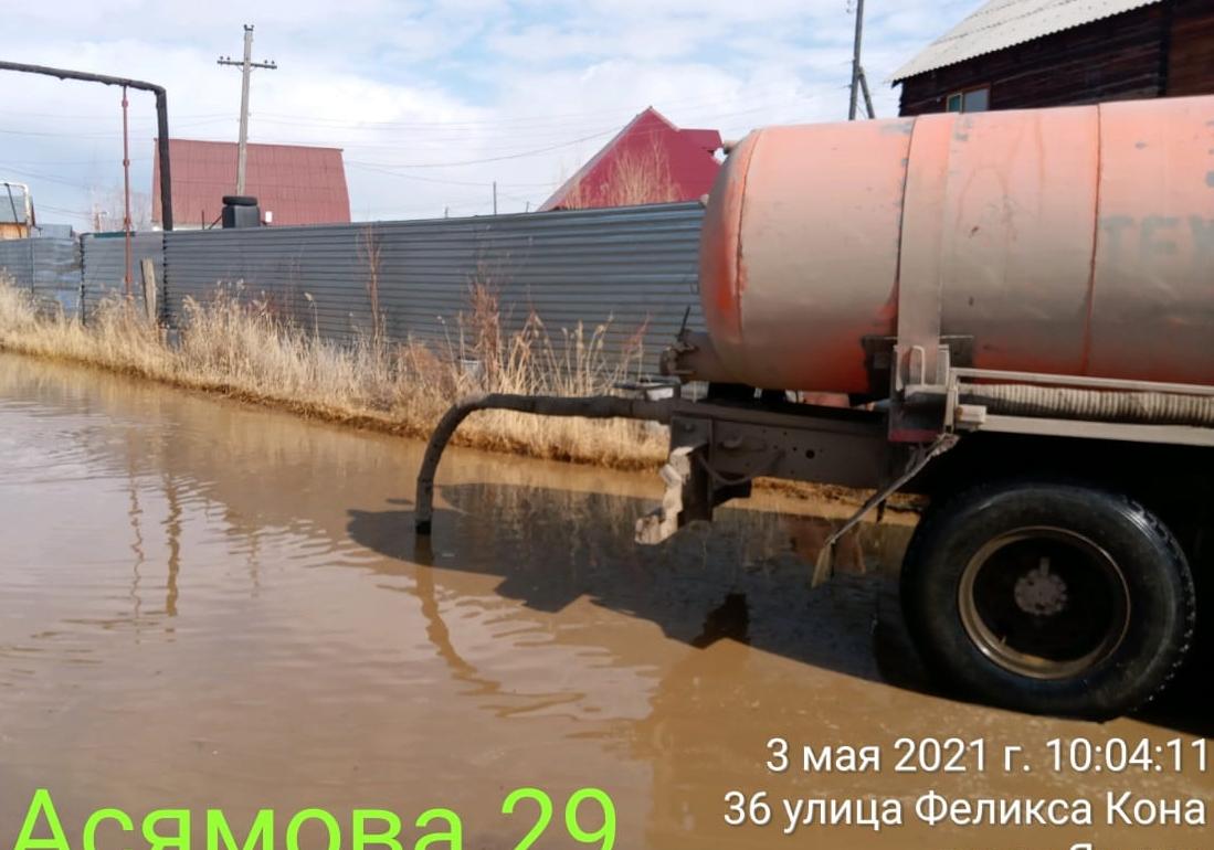 Борьба с талыми водами продолжается