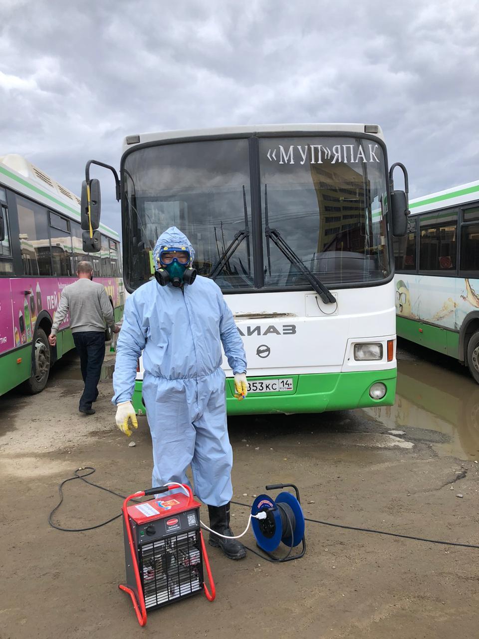 Автобусные рейды и дезинфекция