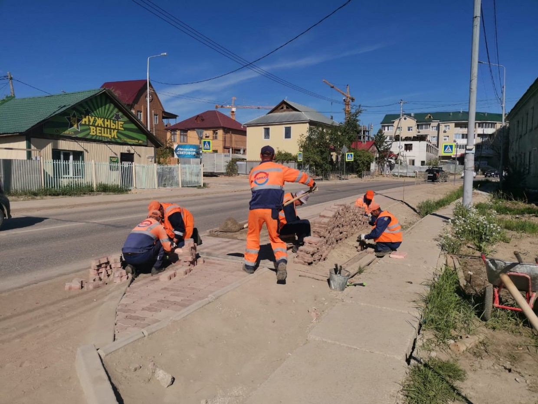 В Якутске занялись ремонтом дорог