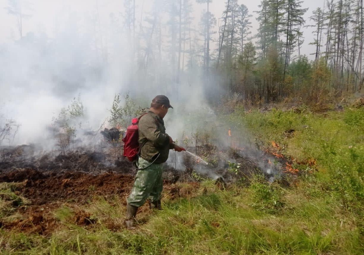 В Якутии действует 271 природный пожар, за сутки ликвидировано 14