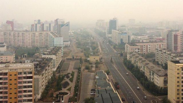 Дым в Якутске вызван лесными пожарами в близлежащих улусах