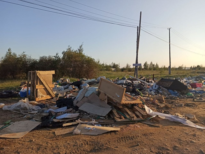На границе Гагаринского округа Якутска и Мархи обнаружена свалка. Видео