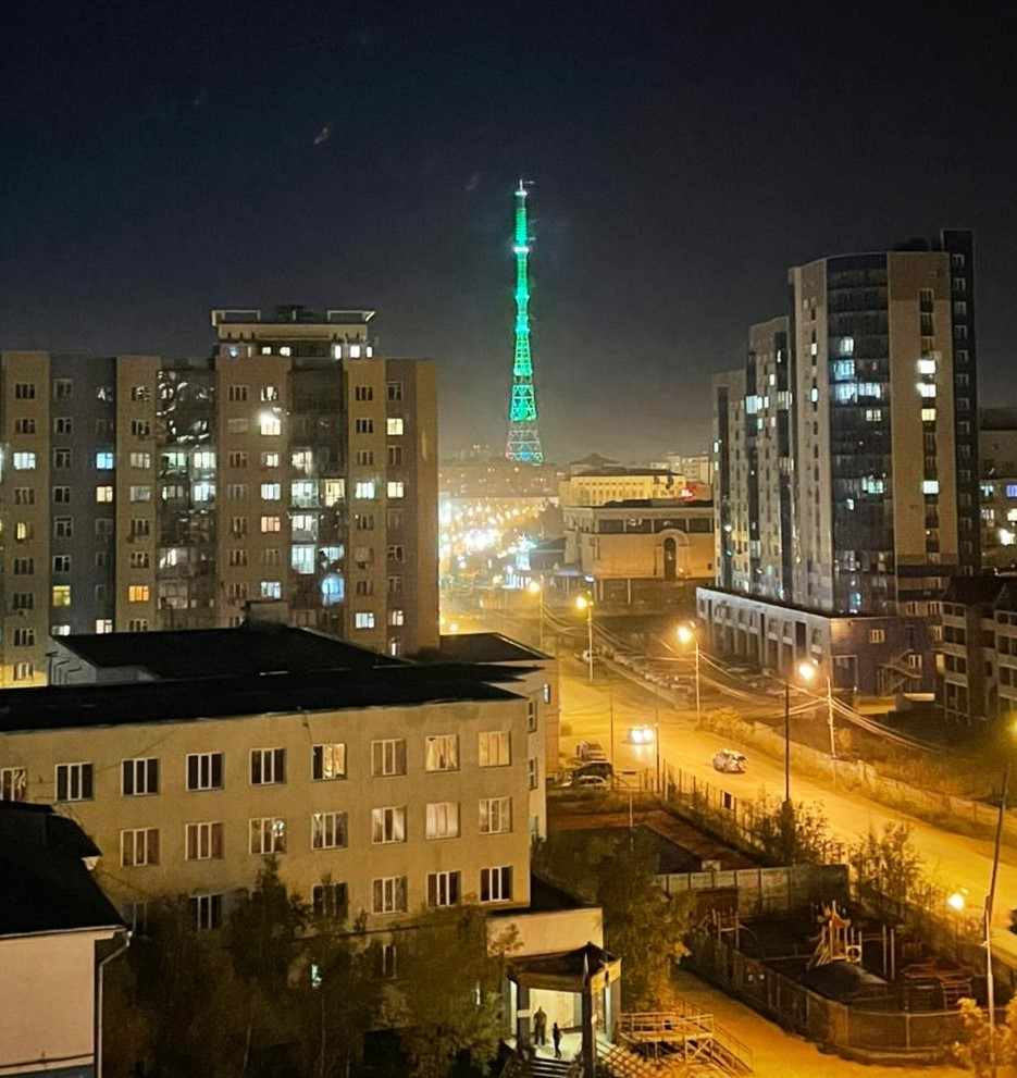 Якутская телебашня загоралась в честь Свердловской области