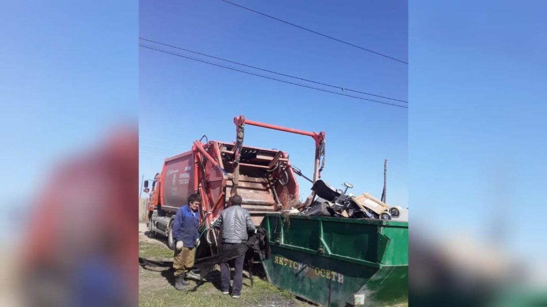 Администрация Мархи вывезла мусор, который был накоплен на границе с Гагаринским округом Якутска