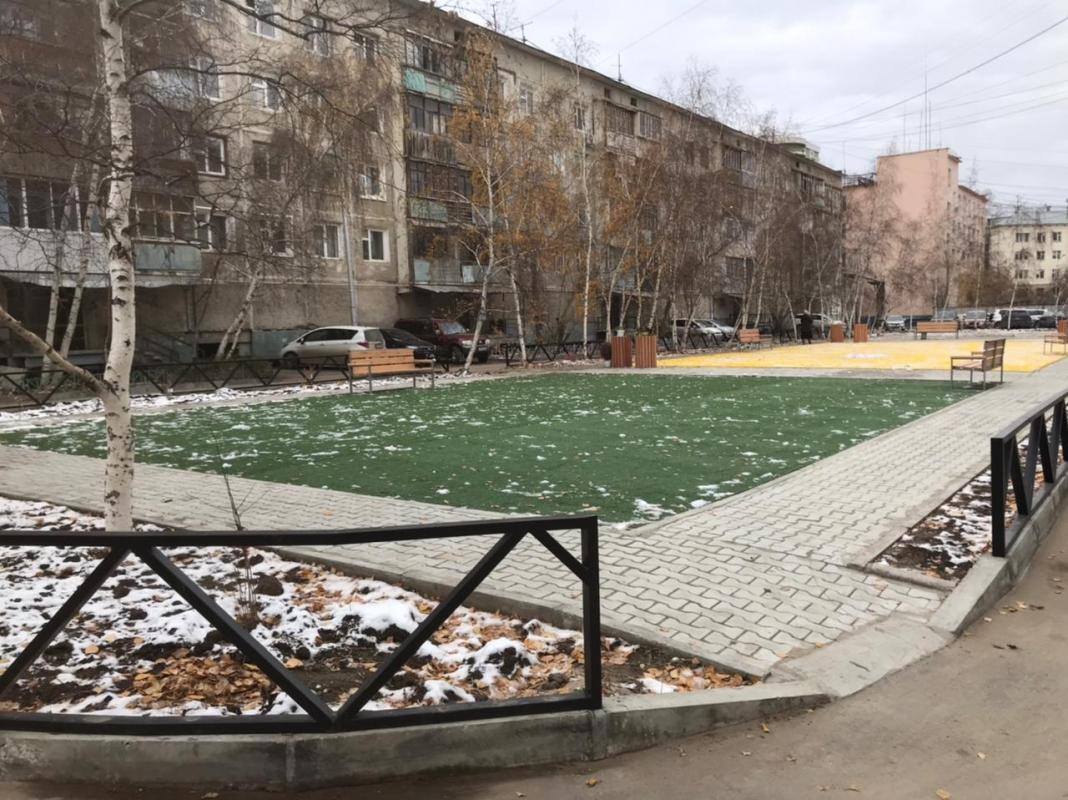 В Якутске завершено благоустройство 8 дворовых территорий