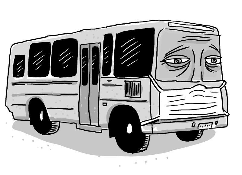 Автобусы  стали ходить реже