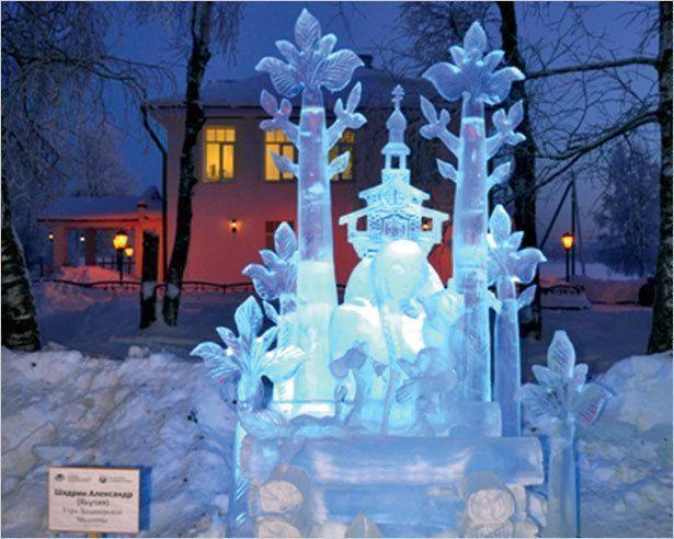 Якутские ледовые скульптуры поразили россиян