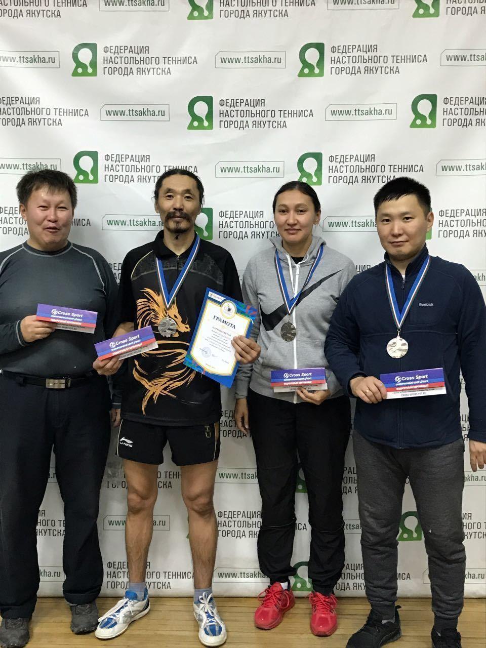 Команда Центрального округа завоевала второе место в соревнованиях по настольному теннису