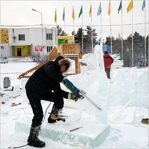 Ледовые фантазии якутских зодчих