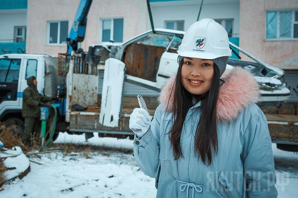 Кыыдаана Игнатьева приняла участие в акции «Вызов-кузов!»