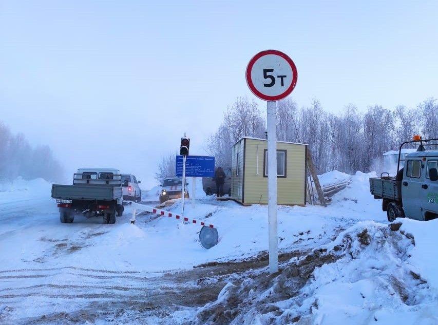 На ледовой переправе «Хатассы-Павловск» увеличена грузоподъемность