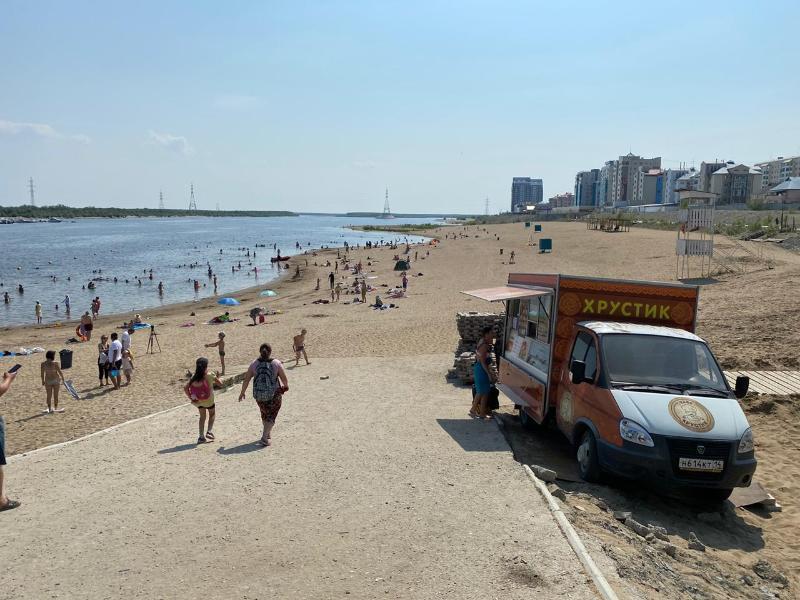 Городской пляж соблюдает все правила