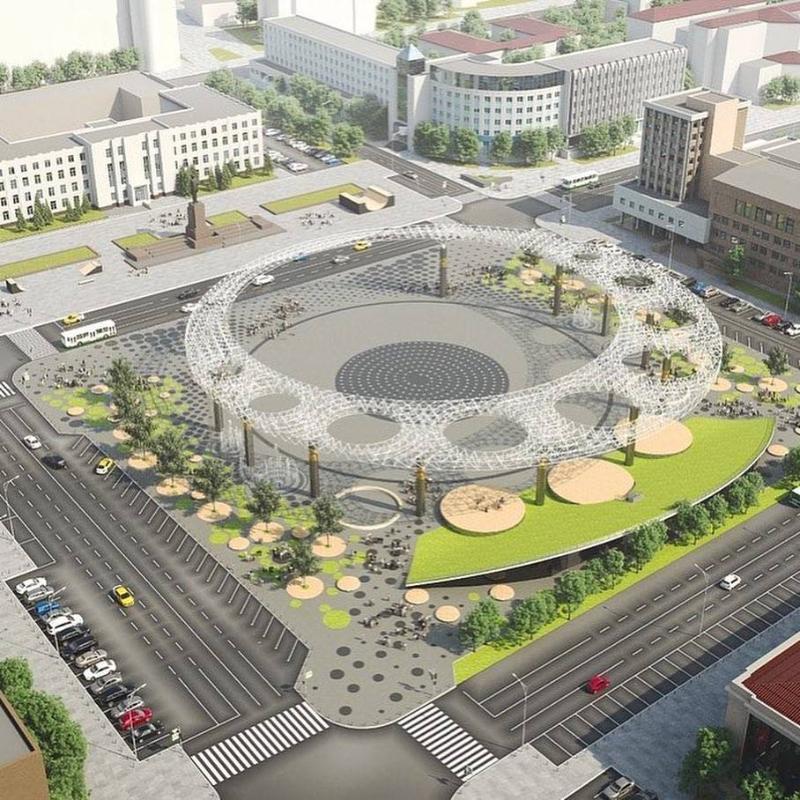 Площадь превращается,  превращается площадь…  К 2022 году площадь Ленина будет не узнать