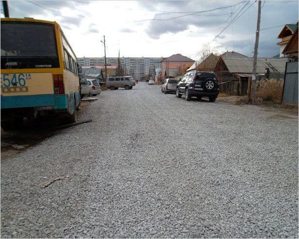 Жители ул. Кутузова г. Якутска на благоустройство внутриквартальной дороги сдали собственные средства