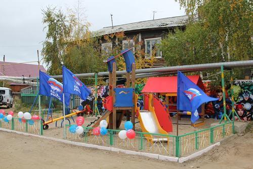 В Сайсарах открылась новая детская площадка