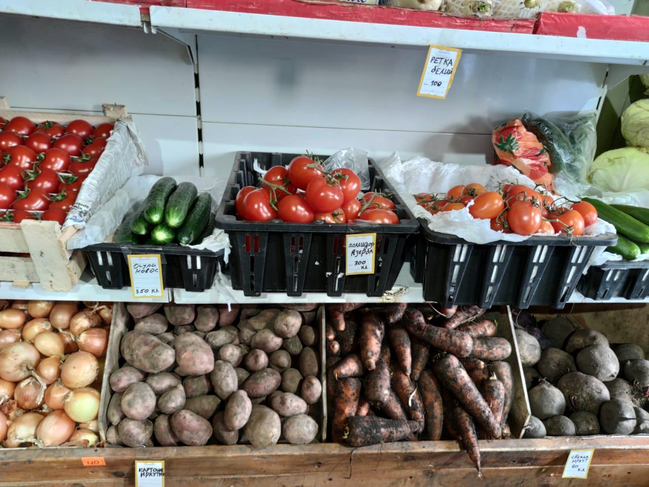 В Якутске цены на овощи и фрукты выросли на 8,7%