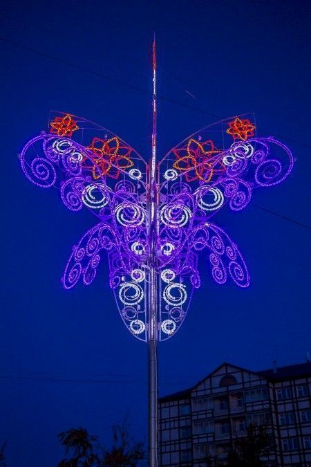 В Якутске зацвело  светодиодное дерево