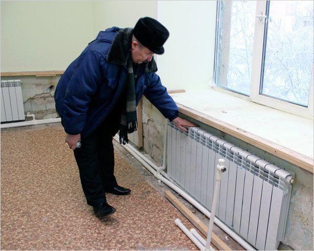 В школе № 23 полностью восстановлен тепловой режим