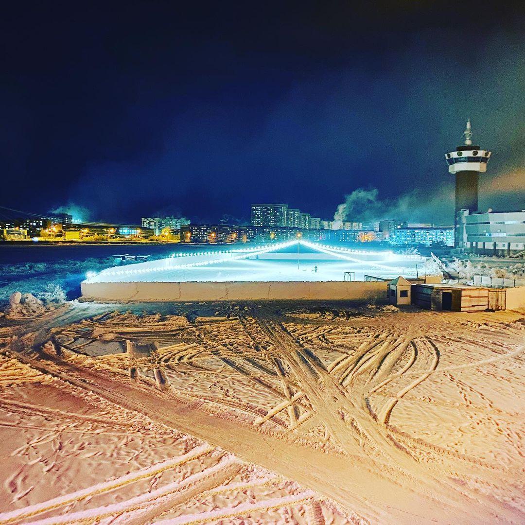 Каток на Сайсарском озере в Якутске откроется 14 февраля