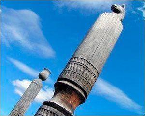 Мастера из Якутии показали публике изготовление сэргэ