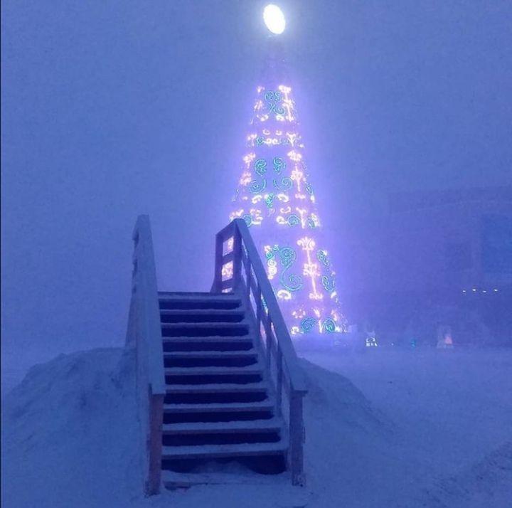 Елку на площади Орджоникидзе уберут, как только спадут морозы