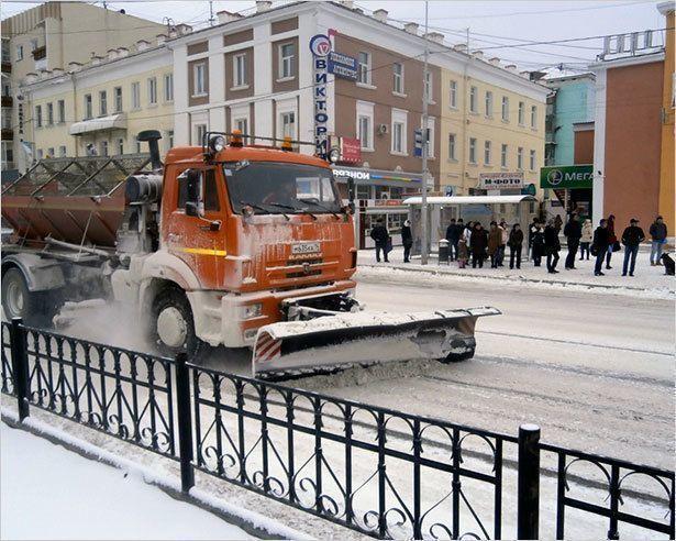 В Якутске на уборку снега брошены все силы «Якутдорстроя»
