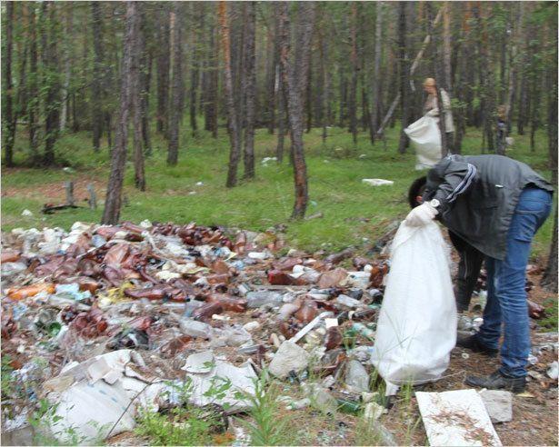 От личного примера  к чистому городу.  В Якутске собрали 9000 мешков мусора