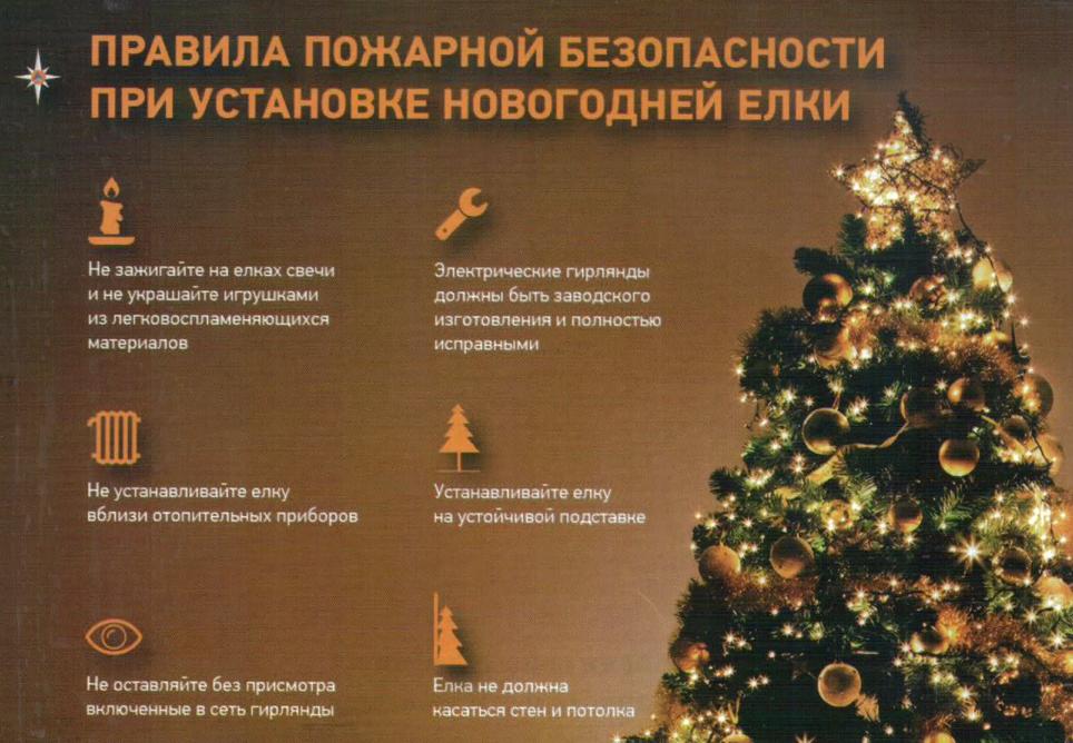 МЧС: следуй правилам, встречай Новый год безопасно
