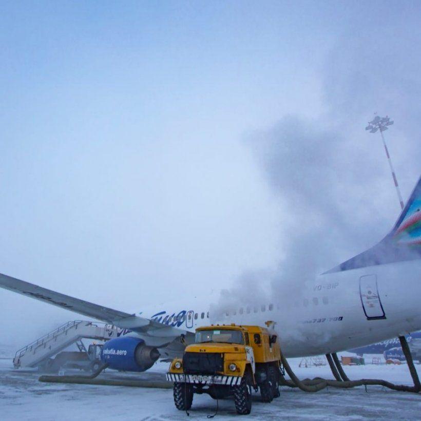 АК «Якутия»: самолеты тоже мерзнут