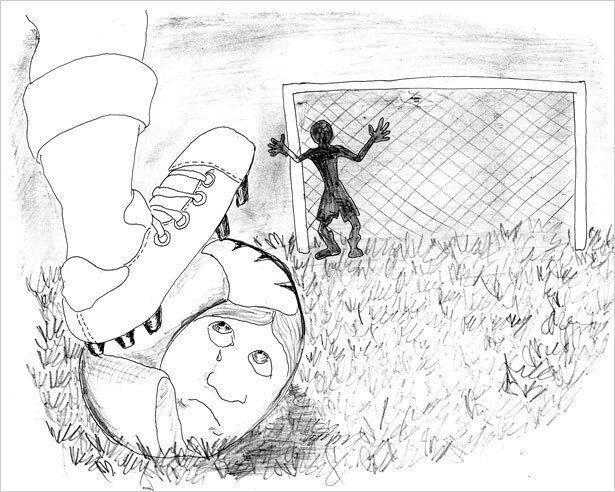 Футбол по-родственному,  или Противостояние бабушки