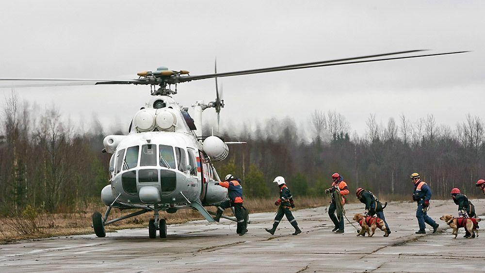 Спасенные вертолетом