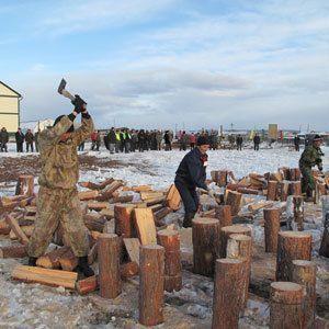 Заготовка дров - это весело